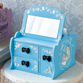【Disney】 ディズニー メイクボックス(選べるキャラクター) 「ふしぎの国のアリス」 ◇ ベルメゾン 家具 収納 ボックス ケース メイク 化粧 ワゴン ◇