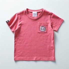 【Disney】 ディズニー ちびカオポケット子供Tシャツ(選べるキャラクター) 「マリー(ピンク)」 ◆ 100 110 120 130 140 ◆ ◇ ベルメゾン 子供服 子供 服 子供用品 男の子 女の子 子供用 Tシャツ 半袖 長袖 ◇
