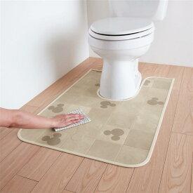 【Disney】 ディズニー 拭けるトイレマット[日本製]「ミッキーモチーフ」 ◆ ワイド ◆ ◇ ベルメゾン トイレ 便所 お手洗い おしゃれ ◇