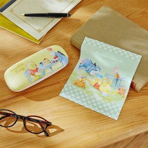 【Disney】 ディズニー メガネケース 「 くまのプーさん 」 ◇ ベルメゾン メガネ めがね 眼鏡 ケース ハード プーさん キャラクター かわいい 可愛い 収納 女性 レディース 眼鏡拭き クロス付