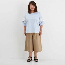 ガウチョ パンツ 「ベージュ」 ◆ LL 3L ◆ ◇ レディースファッション レディース パンツ スリム パンツ ◇