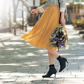 【最大20%OFFクーポン発行中】【送料無料】 美しく歩けるニットブーツ[日本製] ◇ 靴 レディース 女性 シューズ ブーツ ショート ブーティ ベルメゾン ◇