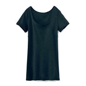 汗取りインナー・綿100%フレンチ袖 「ブラック」 ◆ 4L 5L ◆ ◇ ベルメゾン レディース 下着 脇汗 インナー 肌着 汗取りインナー ◇