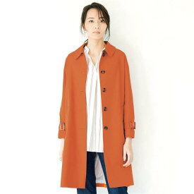 花粉がつきにくい撥水ステンカラー コート 「オレンジ」 ◆ S M L LL 3L ◆ ◇ ベルメゾン レディースファッション コート レディース ステンカラー コート ◇