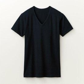 綿混 あったかインナー・ Vネック 半袖 メンズ ◆ M L LL 3L ◆ ◇ ベルメゾン メンズ 肌着 インナー 下着 半袖 長袖 ◇
