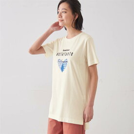 チュニックプリントTシャツ 「オフホワイト(ハート)」 ◆ 4L 5L 6L ◆ ◇ ベルメゾン レディース カットソー トップス Tシャツ ◇