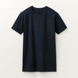 綿混 あったかインナー・クルーネック 半袖 メンズ ◆ M L LL 3L ◆ ◇ ベルメゾン メンズ 肌着 インナー 下着 半袖 長袖 ◇