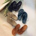 ジュート編み風 ビーチサンダル[日本製] ◆ M/22.0~23.0cm L/23.5~24.5cm ◆ ◇ ベルメゾン 靴 レディース シューズ サンダル ビーチ リゾート 海 プール レジャー お