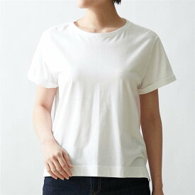【BELLE MAISON】ベルメゾン 丸みを隠す大人仕立てTシャツ 「オフホワイト」 ◆ S M L LL 3L ◆ ◇ ベルメゾン レディース ファッション カットソー トップス Tシャツ ◇