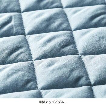 先染め綿100%のボックスシーツ型敷きパッド「グレー」シングル