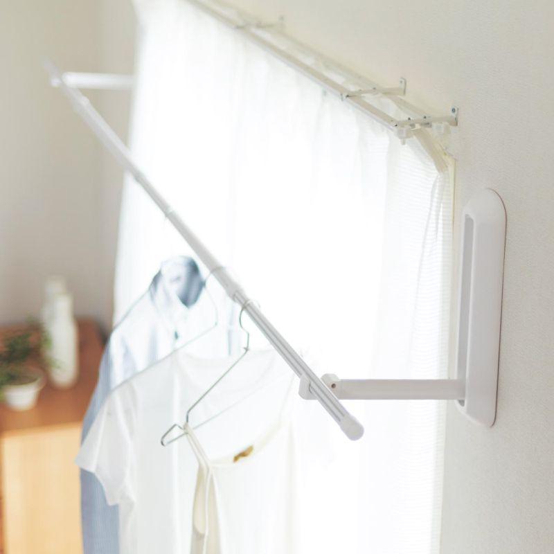 【BELLE MAISON】ベルメゾン 浮かせて干す!ピンで設置できる 「壁付け物干し」 ◇ 物干し 洗濯 室内 ランドリー 【bellinte_d】 ◇