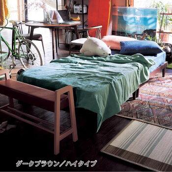 【BELLEMAISON】ベルメゾン10分で組み立てられるタモ材のすのこベッド「ナチュラル」◆ハイ◆◇寝具ベッド本体すのこ通気bedBELLEMAISONDAYS◇