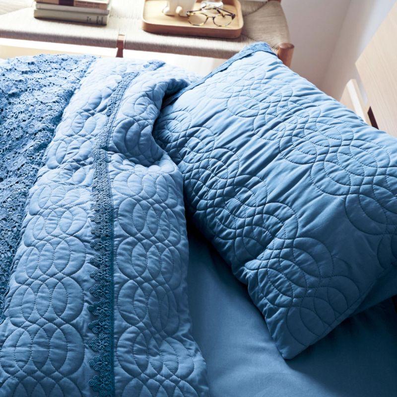 【BELLE MAISON】ベルメゾン レース付きキルトの綿100%枕カバー2枚セット ◆約43×63cm用◆ ◇ 寝具 布団 ベッド カバー 枕 カバー ピロー ピローケース bed ファブリック フェミニン 初売り ◇