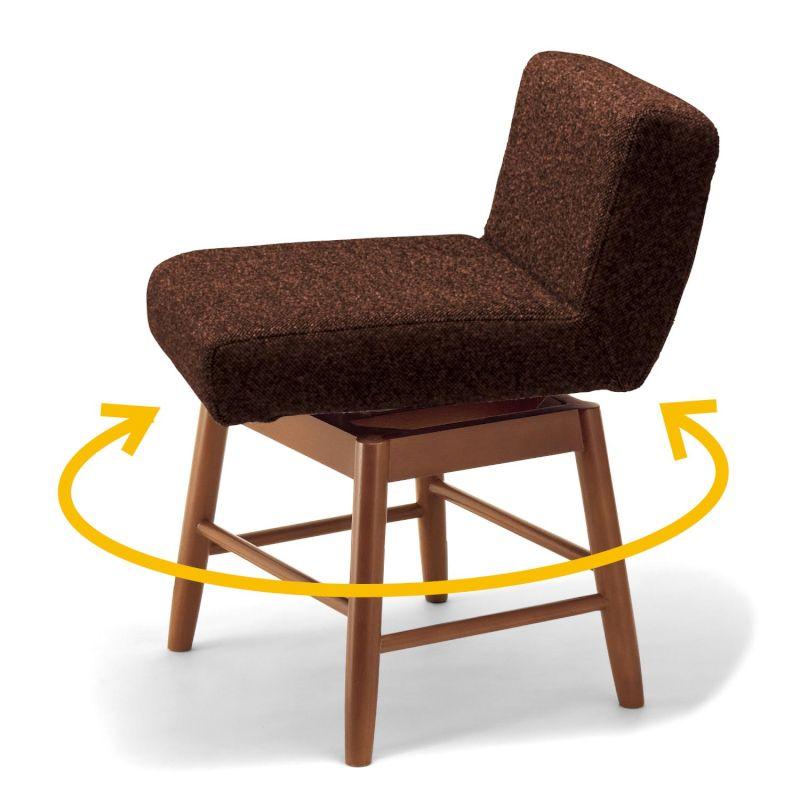 【BELLE MAISON】ベルメゾン 腰もたれ付きクッションスツール 「ダークブラウン×ダークブラウン」 ◆回転式◆ ◇ 家具 収納 椅子 チェア いす スツール 男前インテリア 北欧調 初売り ◇
