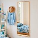 ベルメゾン スリムフレームのウォールミラー 「ナチュラル」◆C・60×153.5(幅(cm))◆◇ 家具 収納 ミラー 鏡 スタン…