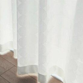 ベルメゾン サークル柄のUVカット・遮熱・遮像・防炎レースカーテン[日本製] ◆約100×203(2枚) 約100×208(2枚)(幅×丈(cm))◆◇ カーテン リビング 寝室 子供部屋 レース おしゃれ デザイン かわいい◇