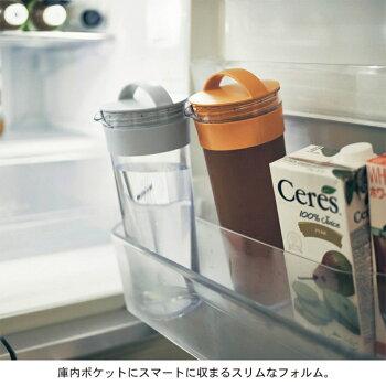 お湯出しもできる冷水筒1.1リットル[日本製]「グレー」