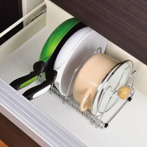 ベルメゾン 引出し用鍋・フライパンラック カラー ◇ 家具 収納 キッチン 食器 棚 ボード ◇
