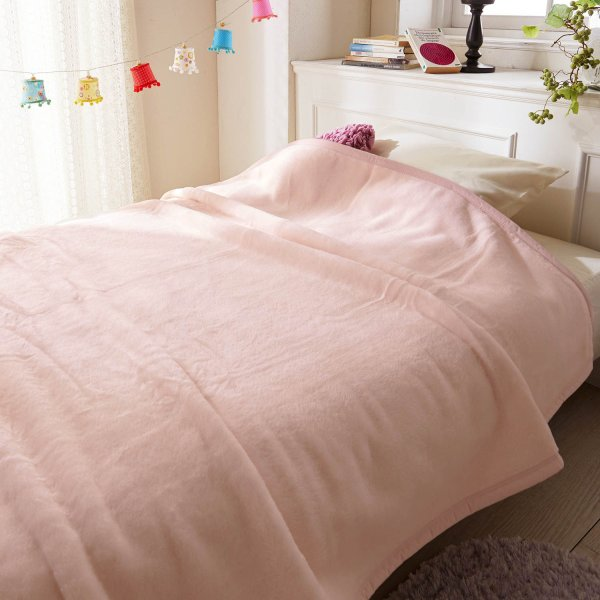 【BELLE MAISON】ベルメゾン 毛布 日本製 ニューマイヤー毛布 カラー ピンク ◆ピンク◆ ◇ 寝具 布団 ベッド ふとん 毛布 ブランケット あったか bed 新生活 ◇