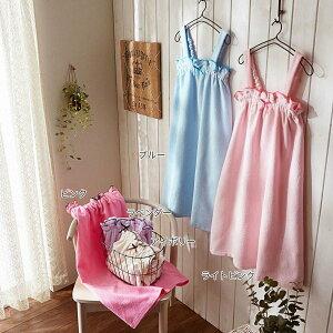 ベルメゾン バスローブ バスドレス 綿100%のラップローブ カラー ブルー ◆ブルー◆ ◇ バス 風呂 お風呂 バスルーム バスローブ バスドレス バスタオル ◇
