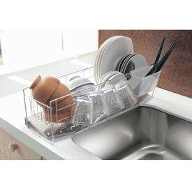 ベルメゾン ステンレス水切りかご[日本製] ◆大◆ ◇ 水切り カゴ ラック シンク 食器 水きり 奥行 収納 キッチン 皿 ◇