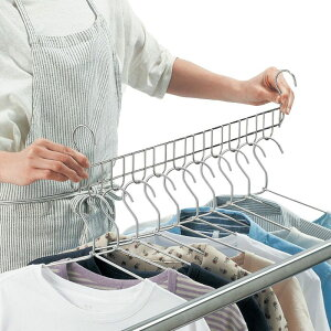 ベルメゾン 乾きやすくて一気に取り込める。燕三条のステンレス製10連ハンガー ◇ 洗濯 ハンガー ランドリー ◇