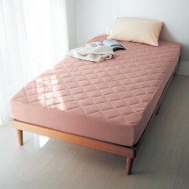ベルメゾン 綿100%パイルのパイルボックスシーツ型敷きパッド 「ピンク」◆セミダブル(サイズ)◆ ◇ 寝具 布団 ベッド カバー ボックス パッド シーツ 敷きパッド 敷 一体型 bed ファブリック ◇