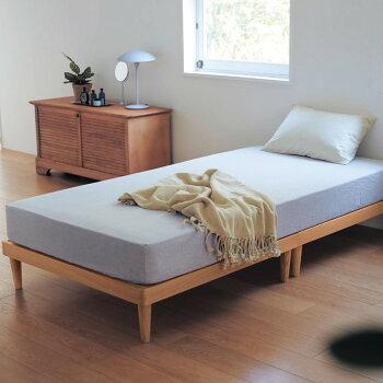 10分で組み立てられるタモ材のすのこベッド「ナチュラル」