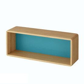 """ベルメゾン 角が丸い設置簡単壁掛けボックス""""WALL FREE"""" 「ブルー」◆60(幅(cm))◆ ◇ 家具 収納 ボックス ケース 壁 ボックス ボード 棚 壁面BELLE MAISON DAYS ◇"""