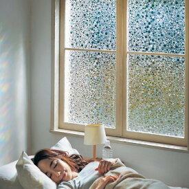 ベルメゾン UVカットステンドグラス風シート 「ドット」◇ 暑さ 紫外線 UV 対策 熱 防止 予防 ◇