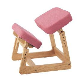 背すじピンと学習チェア 「ピンク」◇ 家具 収納 子ども 子供 キッズ 学習 机 椅子 いす 入学 入園 勉強 教科書 宿題 BELLE MAISON DAYS ◇