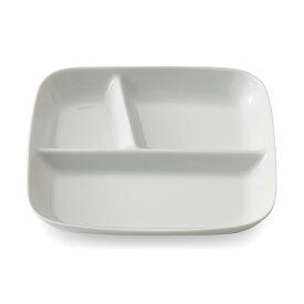 ベルメゾン 深めですくいやすいランチプレート[日本製] 「ホワイト」◇ 皿 食器 キッチン ワンプレート ランチ プレート 仕切り 昼食 BELLE MAISON DAYS ◇