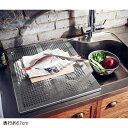 ベルメゾン スペース広く使える頑丈スライドボード ◆約57(奥行(cm))◆◇ 水切り カゴ ラック シンク 食器 水きり 奥行 収納 キッチン 皿◇