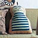 ベルメゾン ゴブラン織りのシルエットクッション 「ミンミ」◇ クッション 本体 汚れ 防止 おしゃれ デザイン リサ・…