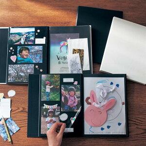 ベルメゾン フリー台紙&A4ポケットで思い出を振り返るアルバム 「 ホワイト 」 ◇ アルバム ファイル 収納 おしゃれ CD DVD 写真 大量 容量 大 ◇