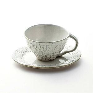 ベルメゾン エレガントなカップ&ソーサー[日本製] 「 ホワイト 」 ◇ 皿 食器 キッチン マグ カップ コップ グラス ◇
