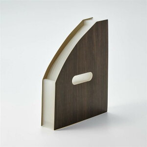 ベルメゾン 大容量で書類を整理できる木目調書類ケース 「 ブラウン 」 ◆ タテ ヨコ ◆ ◇ ファイル 卓上 書類 収納 おしゃれ ◇