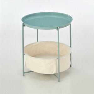 ベルメゾン 収納付きトレーサイドテーブル 「 アイスミント 」 ◇ 家具 収納 サイド テーブル コンソール ◇