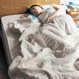 ベルメゾン コットンだけでつくったオールシーズン使えるやわらかガーゼの夏布団 「 ナチュラルホワイト 」 ◇ 寝具 布団 ベッド ふとん 掛け布団 掛布団 羽毛布団 bed ◇