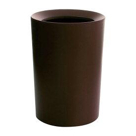 ベルメゾン ゴミ袋を隠せる2重構造丸型リビングゴミ箱 「ブラウン」 ◇ ベルメゾン ゴミ箱 ダストボックス リビング 居間 おしゃれ かわいい ◇
