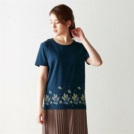 ベルメゾン プリントTシャツ 「 ミモザ 」 ◆ S M L LL 3L ◆ ◇ mini labo ミニラボ レディース ファッション カットソー トップス Tシャツ ◇