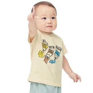 【ベルメゾン】 ゆるいタッチが可愛い プリント 半袖 Tシャツ 「アイボリー」 ◆ 80 90 100 ◆◇ ベビー服 ベビー 服 新生児 男の子 女の子 ベビー用品 新生児服 出産祝い ギフト プレゼント ト