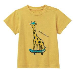【ベルメゾン】 ゆるいタッチが可愛い プリント 半袖 Tシャツ 「スモーキーイエロー」 ◆ 80 90 100 ◆◇ ベビー服 ベビー 服 新生児 男の子 女の子 ベビー用品 新生児服 出産祝い ギフト プレ