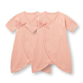 【ベルメゾン】 ソフトキルト コンビ肌着 2枚セット 「ピンク」 ◆ 60 ◇ ベビー服 男の子 女の子 ベビー用品 ベビー肌着 出産祝い ギフト プレゼント