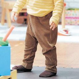 【ベルメゾン】 太うね ニットコーデュロイ カエル ロング パンツ 「ベージュ」 ◆ 80 90 100 ◇ ベビー服 男の子 女の子 ベビー用品 出産祝い ギフト おしゃれ おでかけ ボトムス ズボン