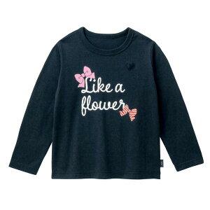 【ベルメゾン】 名札ココ かわいいプリント 長袖 Tシャツ 「ブラック」 ◆ 140 150 ◇ 子供服 キッズ ガールズ 女の子 通学 学校
