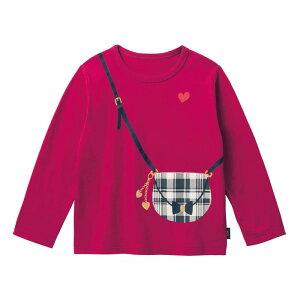 【ベルメゾン】 名札ココ かわいいプリント 長袖 Tシャツ 「プラム」 ◆ 140 150 ◇ 子供服 キッズ ガールズ 女の子 通学 学校