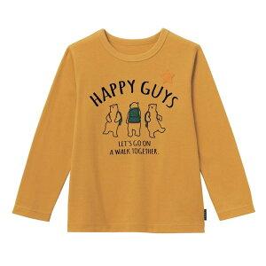 【ベルメゾン】 名札ココ かっこいいプリント 長袖 Tシャツ 「マスタード」 ◆ 140 150 ◇ 子供服 キッズ 男の子 ボーイズ 通学 学校