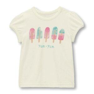 【ベルメゾン】 薄くて涼しい プリント パフスリーブ Tシャツ 「オフホワイト」 ◆ 80 90 100 ◆◇ ベビー服 ベビー 服 新生児 女の子 ベビー用品 新生児服 出産祝い ギフト プレゼント トップ