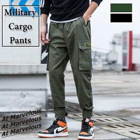 ジョガー カーゴパンツ メンズ ミリタリー サイドポケット ジョガーパンツ ミリタリーパンツ 大きいサイズ ストリート ズボン 長ズボン 服 おおきいサイズ 人気 かっこいい ストリート系 ファッション カジュアル ロングパンツ